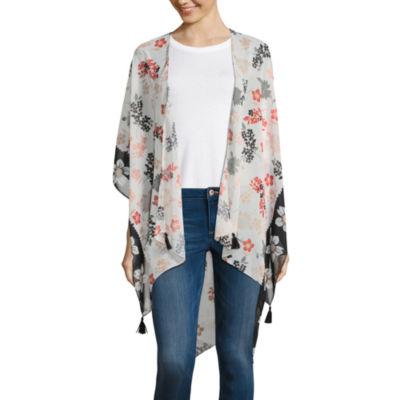 Libby Edelman Elbow Sleeve Floral Kimono