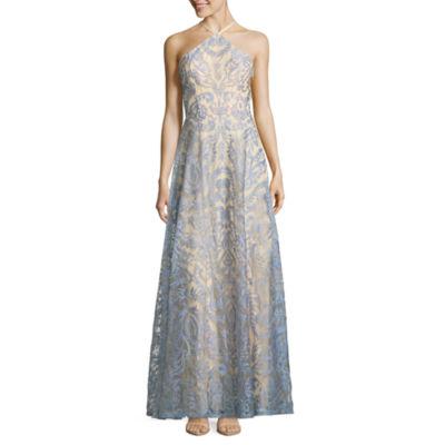 Speechless Sleeveless Embroidered Jacquard Maxi Dress-Juniors