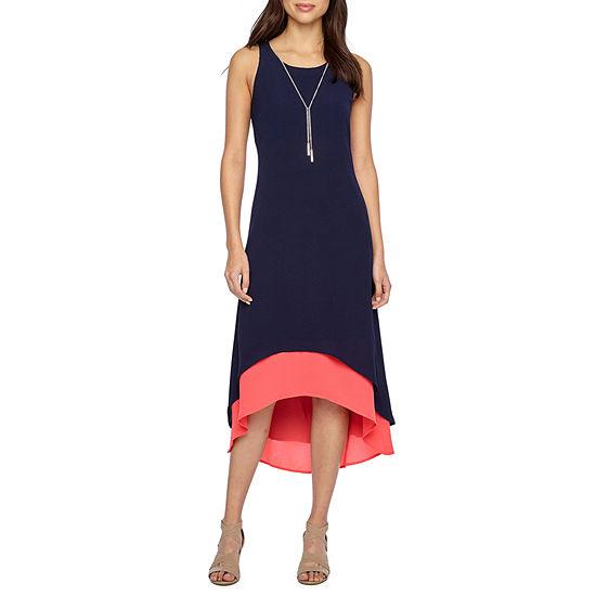 R & K Originals Sleeveless Hi-Lo Maxi Dress