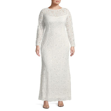 Blu Sage Long Sleeve Evening Gown - Plus