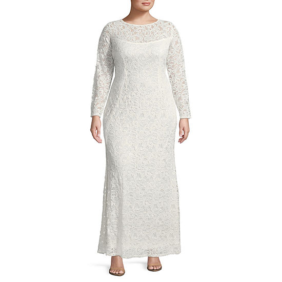 Blu Sage Long Sleeve Evening Gown - Plus