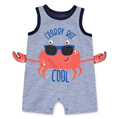 Okie Dokie 3D Crab Creeper - Baby Boy NB-12M