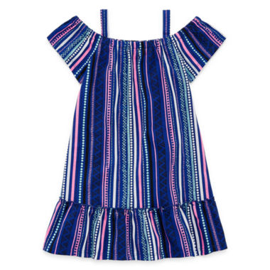 Okie Dokie Short Sleeve Babydoll Dress - Toddler Girls