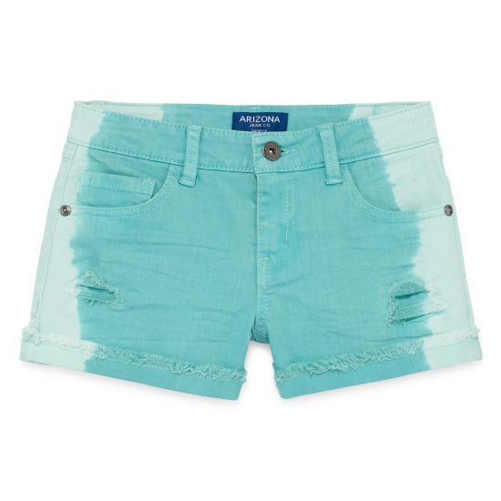 Arizona Dip Dye Denim Shortie Shorts Girls 4-16 and Plus
