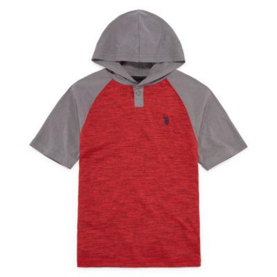 U.S. Polo Assn. Short Sleeve Hooded Tee-Big Kid Boys