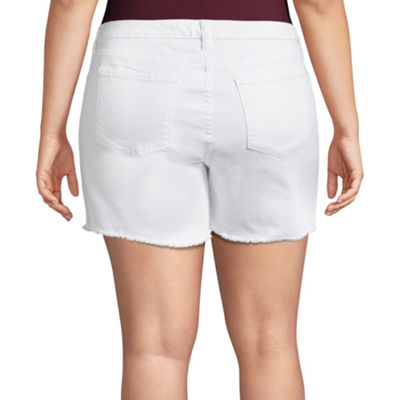 "Arizona 4 1/2"" Midi Shorts-Juniors Plus"