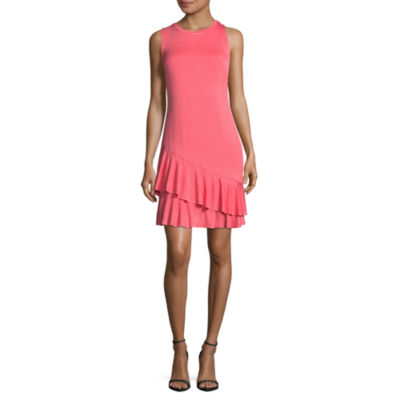 Belle + Sky Sleeveless Ruffle Hem Dress