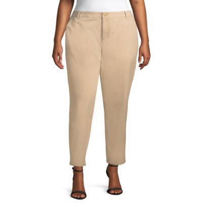 Liz Claiborne Classic Chino Ankle Pant- Plus