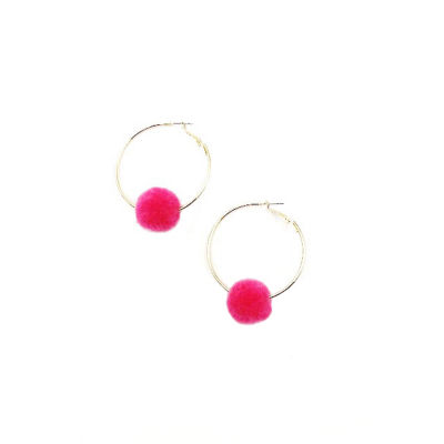 Bijoux Bar 1 1/2 Inch Hoop Earrings