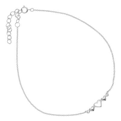 Itsy Bitsy Itsy Bitsy Sterling Silver Anklet Silver Tone Sterling Silver 9 Inch Semisolid Cable Ankle Bracelet