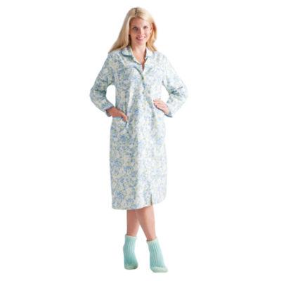 La Cera Plus - Size Long Sleeve Flannel Nightgown