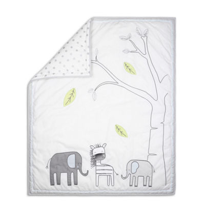 The Peanut Shell Little Haven Elephant 3-pc. Crib Bedding Set
