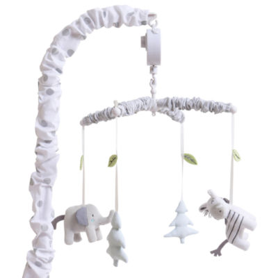 The Peanut Shell Little Haven Elephant Baby Mobile