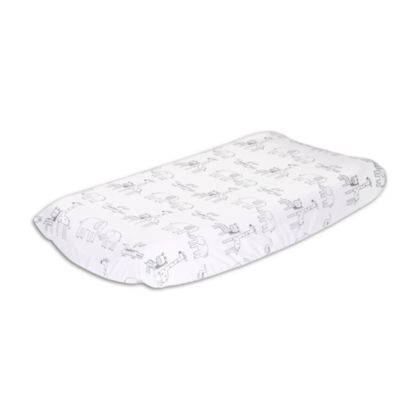 The Peanut Shell Little Haven Elephant Crib Sheet
