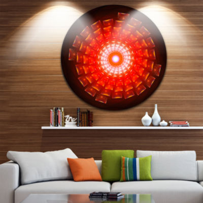 Design Art Circular Vortex Broken Particles FloralRound Circle Metal Wall Art