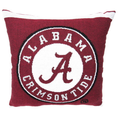 NCAA University Of Alabama Square Throw Pillow
