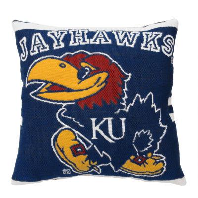 NCAA University Of Kansas Square Throw Pillow
