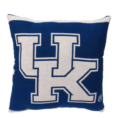 NCAA University Of Kentucky Square Throw Pillow
