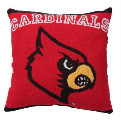 NCAA University Of Louisville Square Throw Pillow