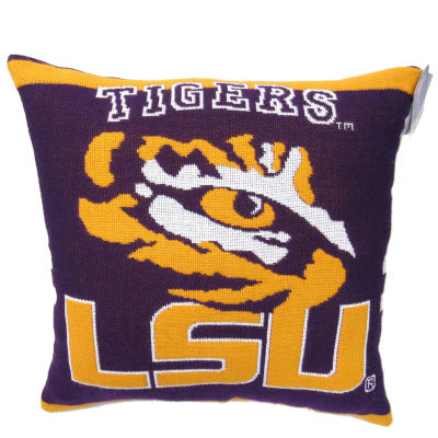 NCAA LSU Square Throw Pillow