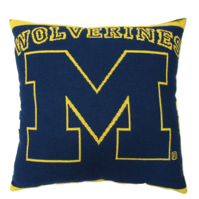 NCAA University Of Michigan Square Throw Pillow