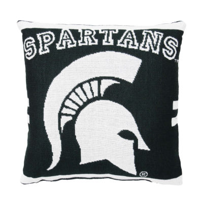 NCAA Michigan State Square Throw Pillow