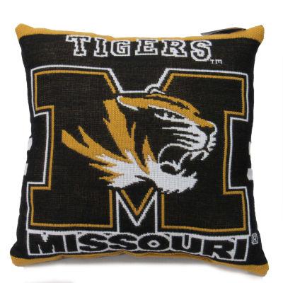 NCAA University Of Missouri Square Throw Pillow
