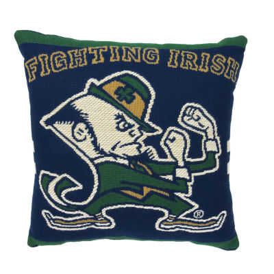 NCAA University Of Notre Dame Square Throw Pillow