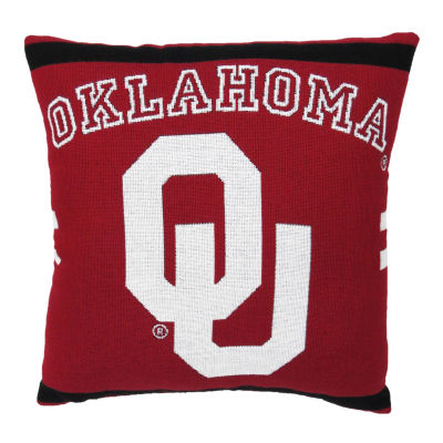 NCAA University Of Oklahoma Square Throw Pillow