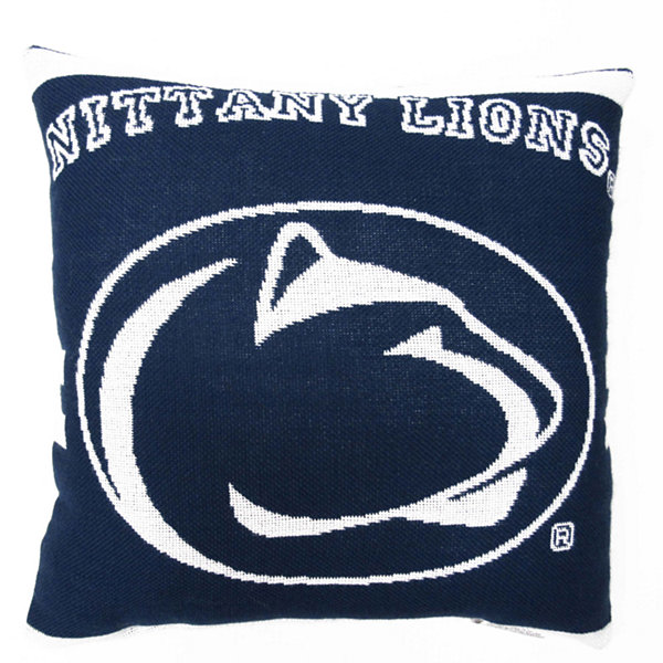 NCAA Penn State University Square Throw Pillow