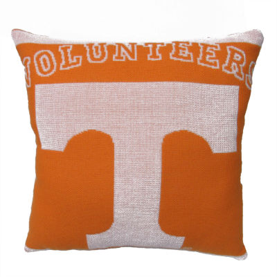 NCAA University Of Tennessee Square Throw Pillow