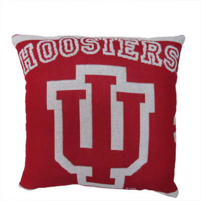 NCAA University Of Indiana Square Throw Pillow