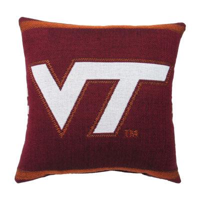 NCAA Virginia Tech University Square Throw Pillow