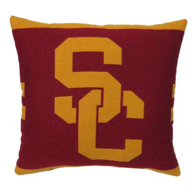 NCAA USC Square Throw Pillow