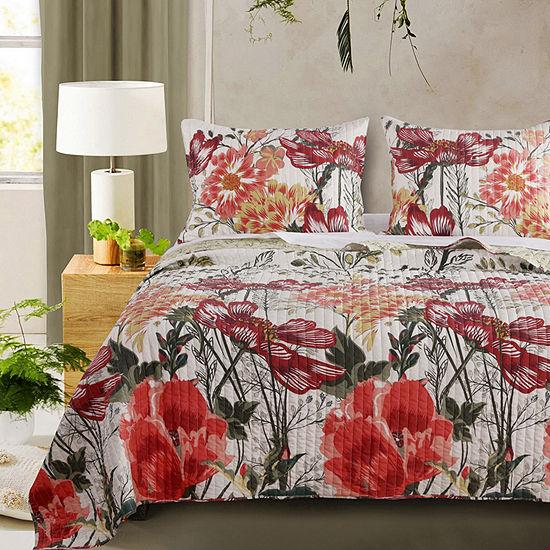 Barefoot Bungalow Meadow Floral Reversible Quilt Set