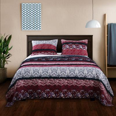 Barefoot Bungalow Monroe Reversible Quilt Set