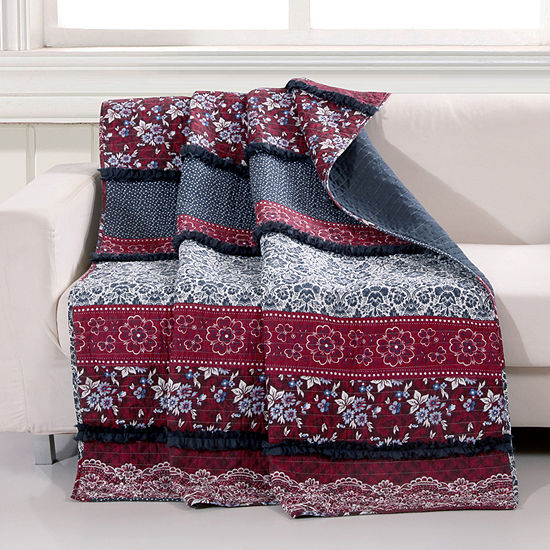 Barefoot Bungalow Monroe Reversible Midweight Throw