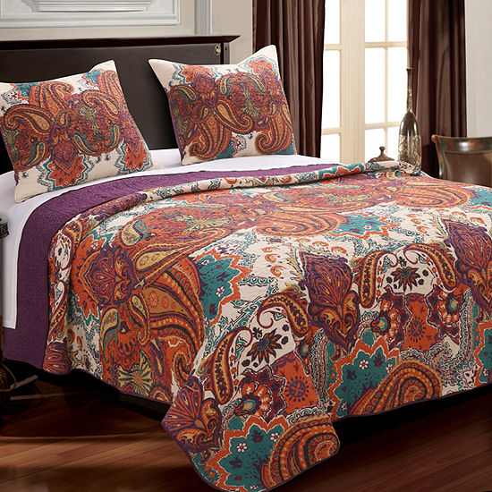 Greenland Home Fashions Nirvana Bohemian Reversible Quilt Set