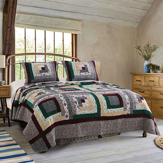 Greenland Home Fashions Pine Grove Reversible Quilt Set