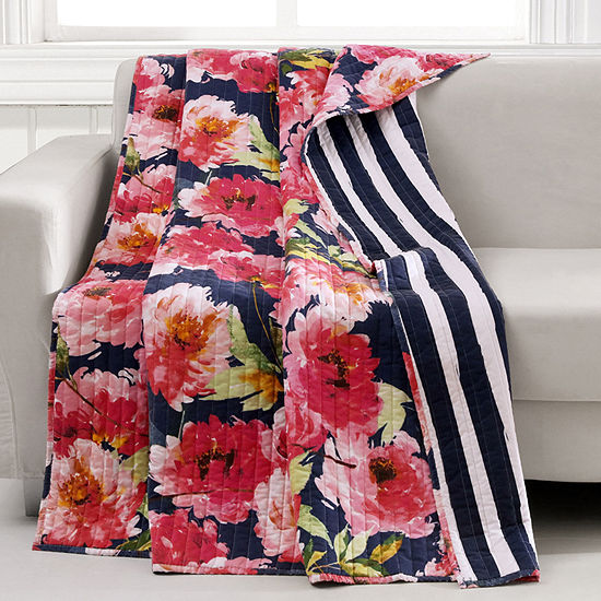 Barefoot Bungalow Peony Reversible Midweight Throw