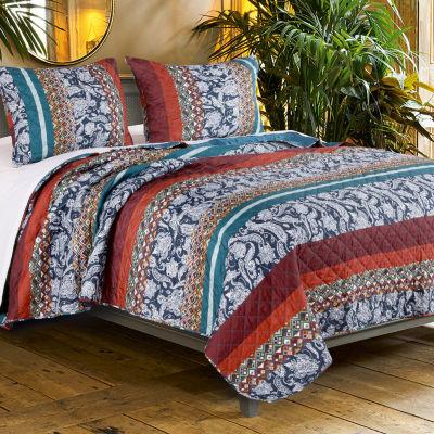 Barefoot Bungalow Vista Bohemian Reversible Quilt Set