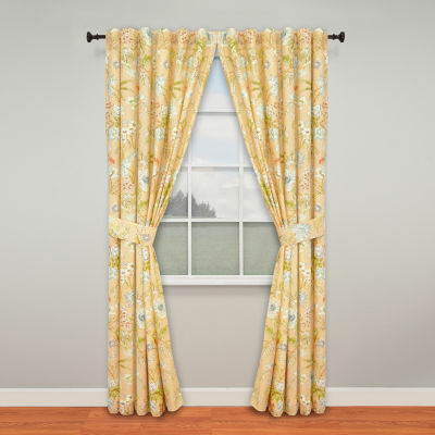 Waverly Light-Filtering Rod-Pocket Set of 2 Curtain Panel