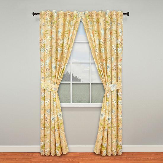 Waverly Light-Filtering Rod-Pocket Set of 2 Curtain Panel