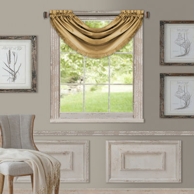 Elrene Versailles Rod-Pocket Waterfall Valance