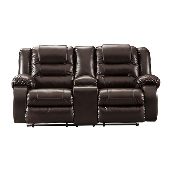 Signature Design by Ashley® Rustin Reclining Loveseat with Console
