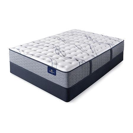 Serta Perfect Sleeper Shelburne Firm - Mattress + Box Spring, California King, Blue