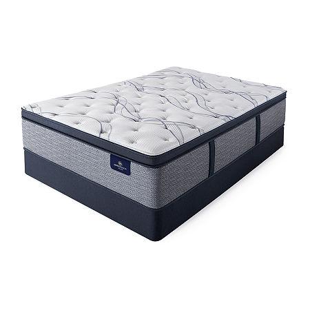 Serta Perfect Sleeper Shelburne Plush Pillowtop - Mattress + Box Spring, One Size , Blue