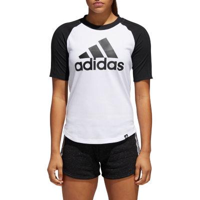 adidas-Womens Crew Neck Short Sleeve T-Shirt