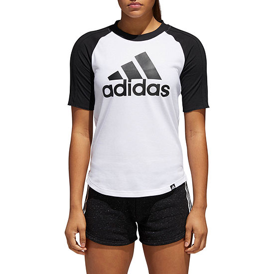ed8e091b121ee adidas-Womens Crew Neck Short Sleeve T-Shirt - JCPenney