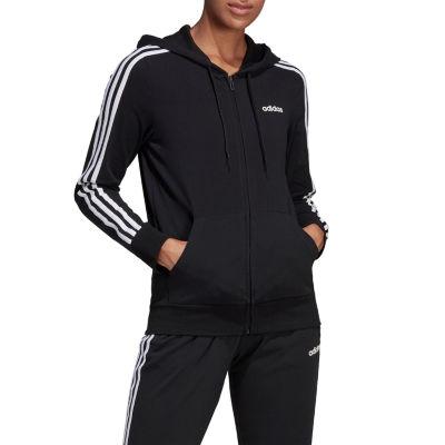 adidas Linear Logo Hoodie Pullover Womens Hooded Neck Long Sleeve Sweatshirt